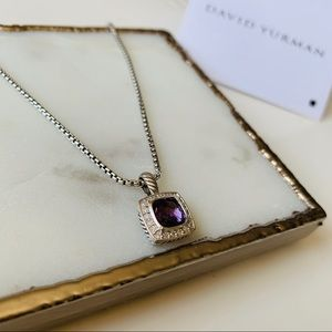 David Yurman Albion Pendant Amethyst Diamonds